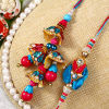 Stunning Multicolored Bhaiya Bhabhi Rakhi Set