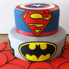 Super Hero Birthday Fondant Cake (Eggless) (3.5 Kg)