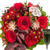 Sympathy Bouquet Peace with grave vase