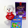 Toysrus $25 Gift Card with I Love You Teddy Bear and Dairy Milk Bar