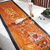 Traditional Barmer Table Runner and Silver Plated Wine Glasses Hamper