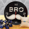 Traditional Beads Work Rakhi With Round Clock & Chocolates