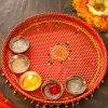 Traditional Brocade Pooja Thali