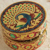 Traditional Circular Jewellery Box with Meenakari