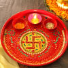 Traditional Crystal Swastik Pooja Thali