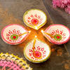 Traditional Painted Clay Diyas