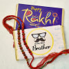 Traditional Rudraksha Rakhi Set of 2 with Chocolate Bars