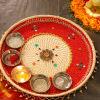 Traditonal Pooja Thali In Dori