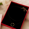 Buy Trendy 2 Layered Choker with Golden Plated Ring Pendant