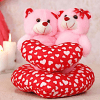 Two Teddies on a Heart Soft Toy