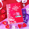 Valentine Card With Dairy Milk Chocolates & Rose Candles