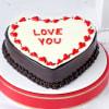 Valentine Chocolate Propose Cake (Half Kg)