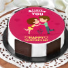 Valentine Kissing Proposal Cake (Half Kg) Online