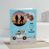 We Love to Travel Personalized Anniversary Greeting Card