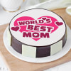 World's Best Mom Cake (Eggless) (Half Kg)