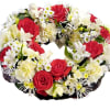 Wreath for funeral, red-white