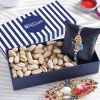Zardozi Rakhi with Almonds in IGP Gift Box and roli-chawal Kit.